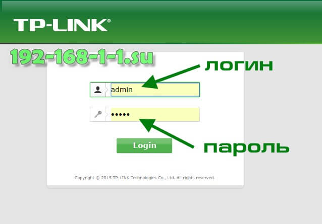 Вход на 192.168.1.1 admin admin